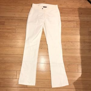Diesel White Leather Effect Pants Size 26